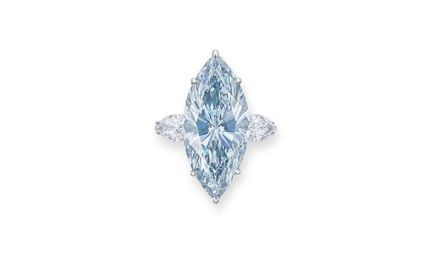 An 'Internally Flawless' 12-Carat Blue Diamond Just Sold for $15.9 Million at Auction