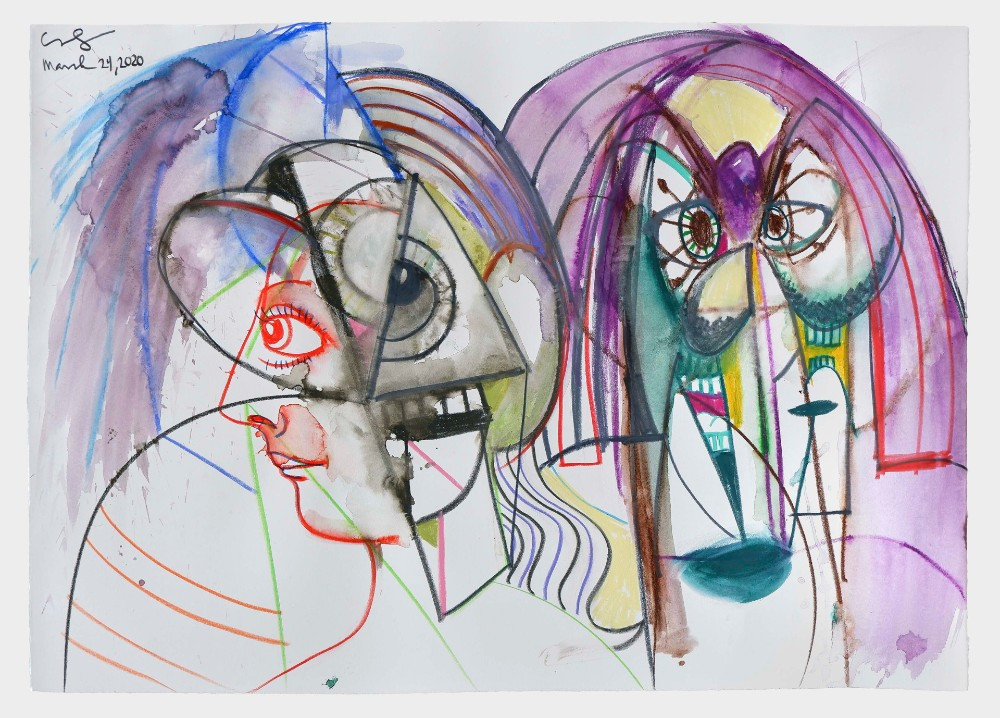 """George Condo's """"Together and Apart"""" (2020)"""