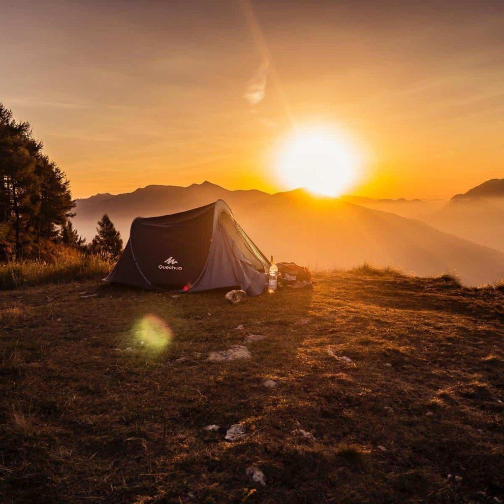 Prepare Waterproof Tent and Sleeping Bag